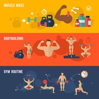 bodybuilding banner set