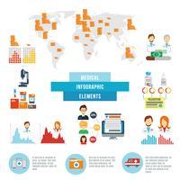 Infografische Elemente der medizinischen Daten
