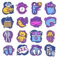 Iconos de tiempo de sueño