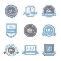 Conjunto de etiquetas de jogging
