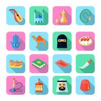 Ícone de cultura árabe plana