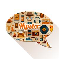 Hipster sociaal concept