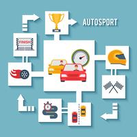 Concepto de auto deportivo vector