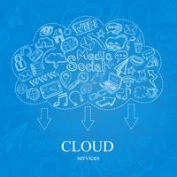 doodle de nube social