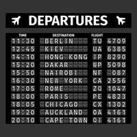 Flughafen-Abfahrtstafel