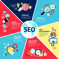 seo infographic set