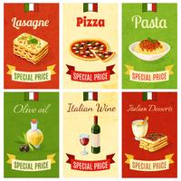 Mini cartel de comida italiana
