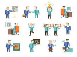Set di lavoro dell'uomo d'affari