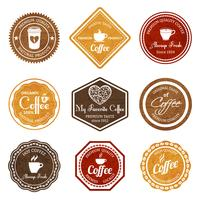 Coffee retro labels set