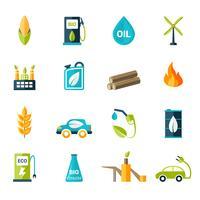 Bio-Kraftstoff-Icons Set