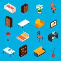 Isometric Interior Icons