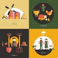 Set di piatti agricoli