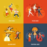 Conjunto de danza plana