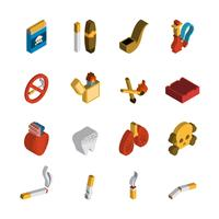 Smoking Isometric Icon vector