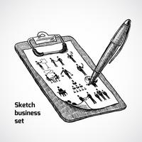 Clipboard With Business Sketch