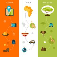 Vertikale Banner von Safari