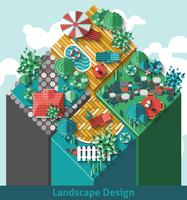 Conceito de design de paisagem