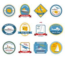 Cruise reisbureau tours labels gekleurd