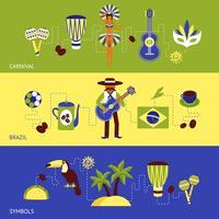 Brasilien-Banner-Set vektor
