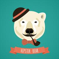 Portrait de hipster animal