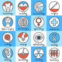 Jeu d'icônes médicales