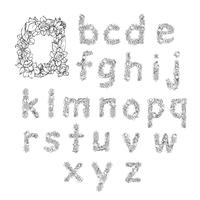 Flower Alphabet Small Letters vector