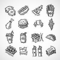 snabbmat ikoner uppsättning