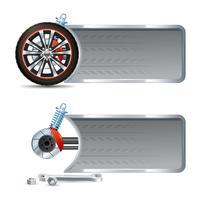 Racing Banner Set vector