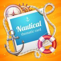 Modelo de cartão marinho