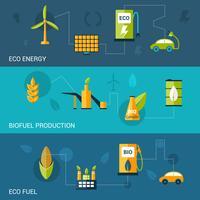 Banners planos de biocombustível