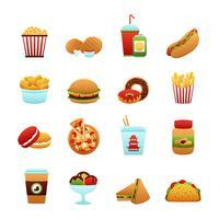 jeu d'icônes de restauration rapide