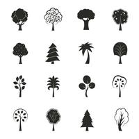 Conjunto de ícones de crescimento ecologia abstrata