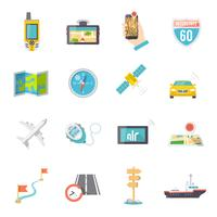 Navigatie pictogrammen plat