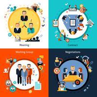 Conjunto de reuniões de negócios
