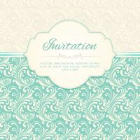 Carte d'invitation motif ornemental