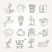 doodles ekologi uppsättning