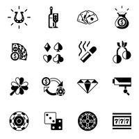 iconos de casino negros