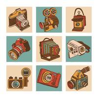 Kamerans ikonuppsättning