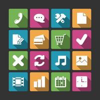 Elementi avanzati di navigazione del sito Web, ombre quadrate