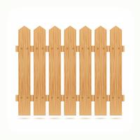 Wooden fence tile