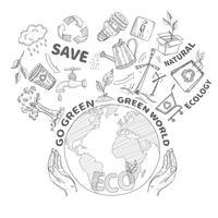 concept d'écologie doodles