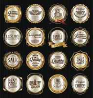 Luxus Premium Goldene Abzeichen und Etiketten