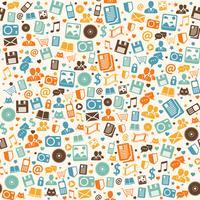 Fondo de patrones digitales sin fisuras