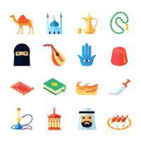 Arabische Kulturikone flach