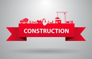 Red construction banner