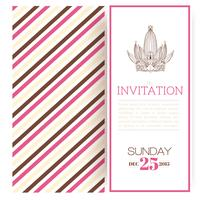 Striped princess invitation template