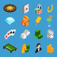 Casino isometrische Icons Set