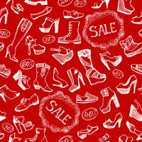 Seamless shoes background vector