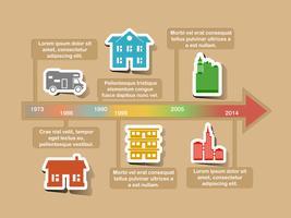 Elementos de la línea de tiempo de infografía