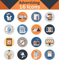 Werbe-Icons Set